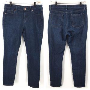 LOFT Outlet Curvy Skinny Dark Wash Jeans